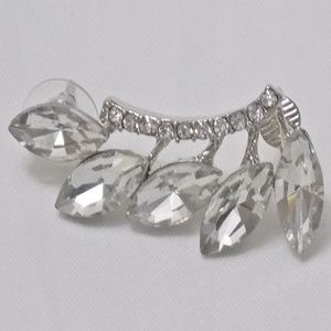 Unbranded Jewelry - Marquise Crystals Ear Crawler Earring Jacket NEW